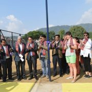 Inauguration of Cricket Practice Pitch