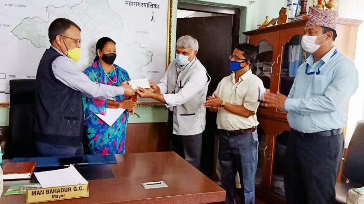 Donation to Covid-19 Emergency Fund of Pokhara Metropolitan City Office